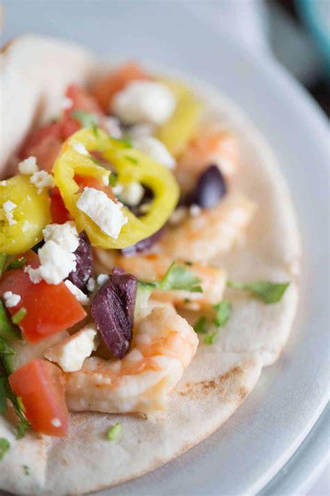garlic shrimp gyro sandwich lemonsforlulucom