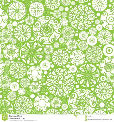 abstract green  white circles seamless pattern stock