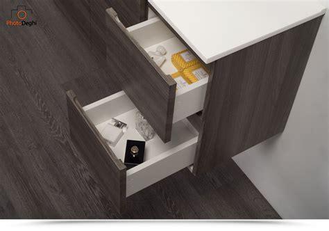 profondità mobili bagno mobili bagno legno 80 cm rovere scuro lavabo specchio