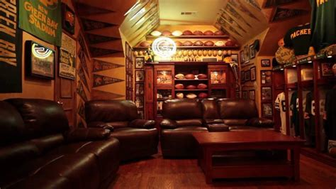 ultimate green bay packers fan cave youtube