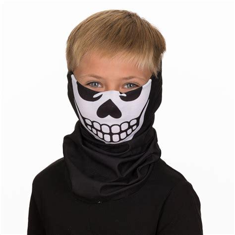 kids skeleton bandana face mask  children age