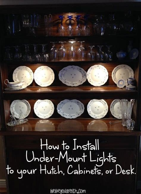 how to put lights kitchen cabinets how to install mount lights on your hutch cabinets 9535