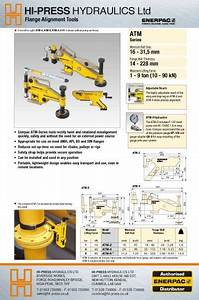 Flange Bolt Weight Chart Atm Series Flange Alignment Tools Hipress Enerpac