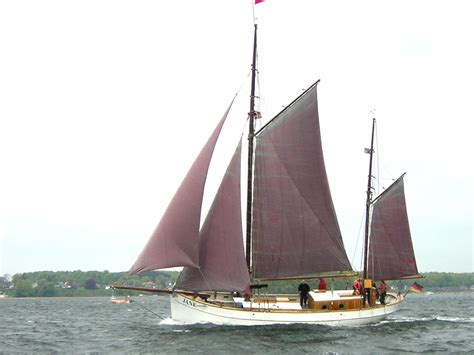 traditional danish gaff ketch sail    boats