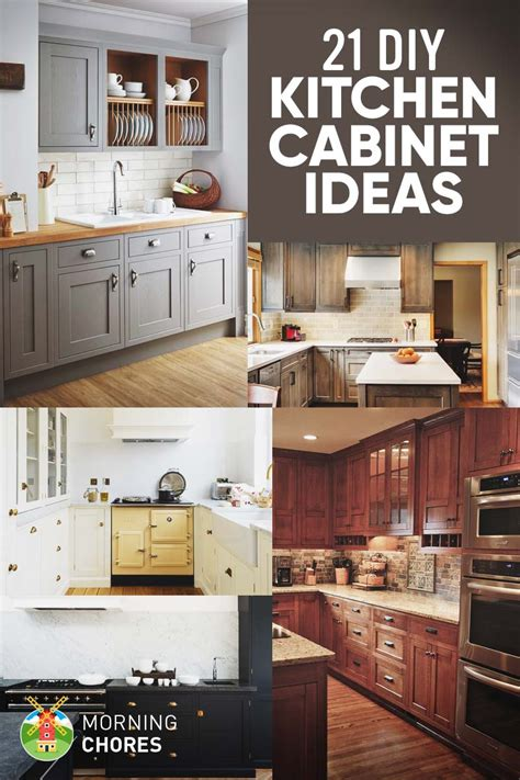 diy kitchen furniture 21 diy kitchen cabinets ideas plans that are easy