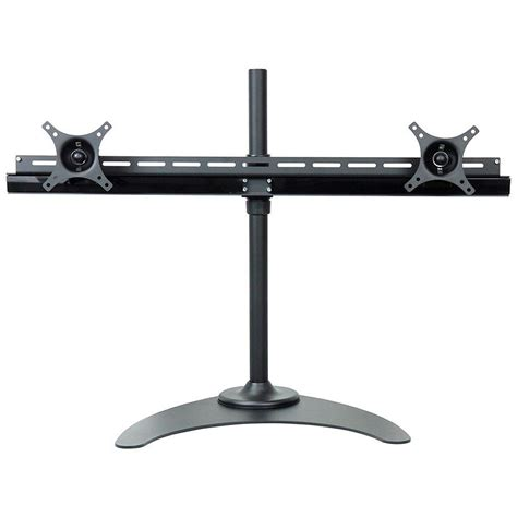 desk mount tv stand dyconn de9e2s s dual tv monitor desk mount stand equal b h