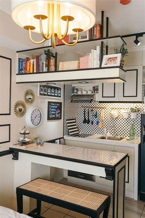 Kitchen Wall Tile Design Ideas - a 22sqm studio unit with traditional and contemporary touches rl