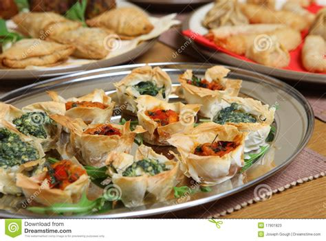 filo pastry cases canapes mediterranean filo tartlet canapes stock photos image 17901823