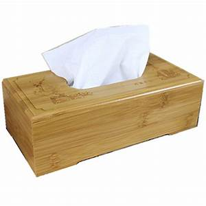 Rustic bamboo tissue box cover wood drawer Quality flip