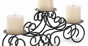 Gifts decor tuscan candle holder wrought iron wedding for Kitchen cabinets lowes with wrought iron candle holder centerpiece