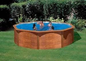 Piscine Bois Ronde : piscine x m aspect bois ~ Farleysfitness.com Idées de Décoration