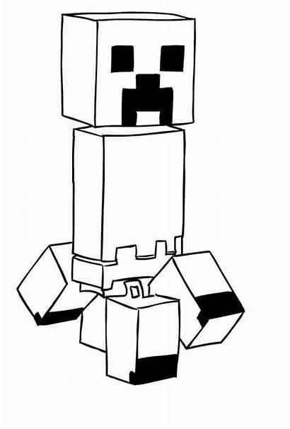 Minecraft Creeper Dibujos Disegni Colorear Drawing Coloring