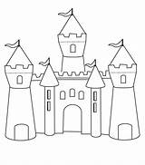 Castle Coloring Pages Template Bounce Printable Templates Princess Castles Colouring Medieval Disney sketch template
