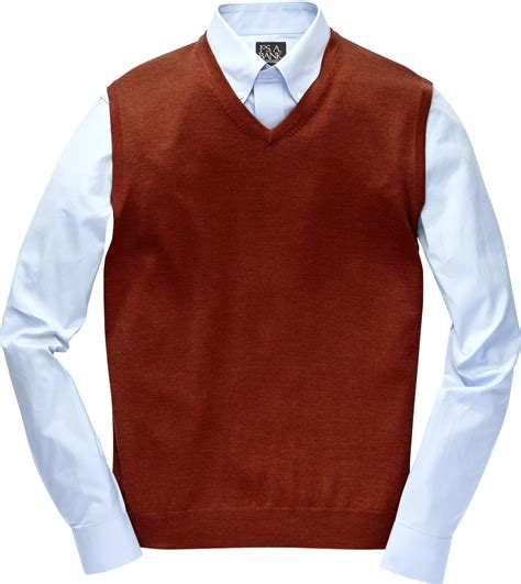 mens sweater vest jos a bank traveler merino sweater vest big and in