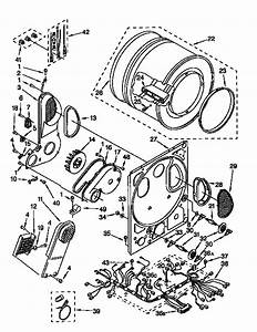 Dryer Bulkhead Diagram  U0026 Parts List For Model 11098575120 Kenmore