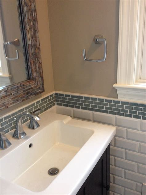 bathroom backsplash ideas mini glass subway tile bathroom backsplash subway