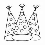 Coloring Hat Birthday Hats Rocks Popular sketch template