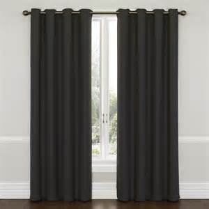eclipse wyndham grommet blackout window curtain panel 84