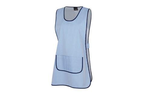 blouse femme de chambre hotellerie chasuble de travail à rayures bleues cotepro