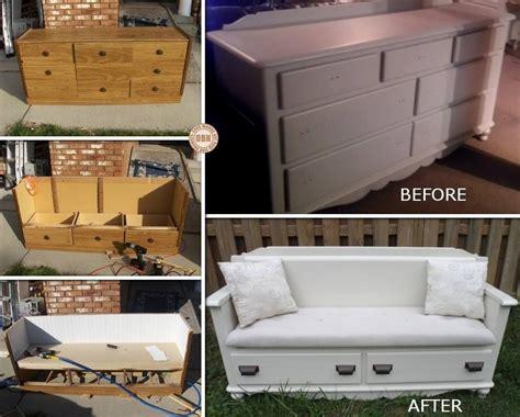 Alte Und Neue Möbel Mischen by Aus Alt Mach Neu Eine Kommode Als Sofa Upcycling Alte