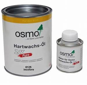 huile cire 2k pure osmo incolore 1l 6125 l39ame du bois With osmo huile parquet