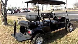 Ez Go Golf Cart  Kawasaki Gas Motor  Lift Kit  Hard Top  Six Passenger  Lights  Alloy Wheels
