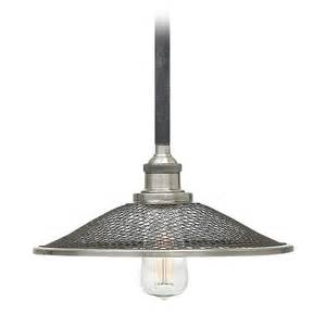 Hinkley lighting rigby aged zinc pendant light with coolie shade dz destination