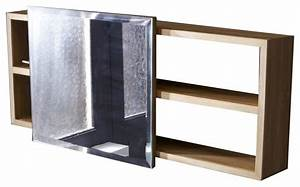 Etagere De Placard : etag re miroir en bois de teck typo contemporain placard et tag re de salle de bain par ~ Melissatoandfro.com Idées de Décoration