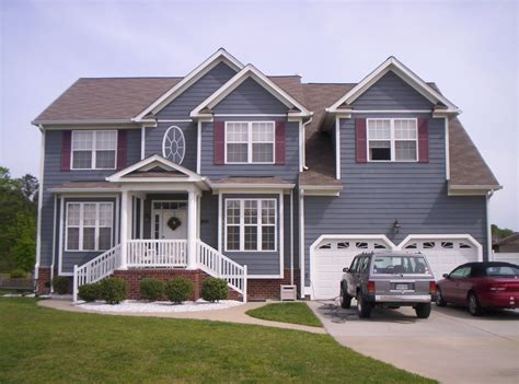 pretty exterior house design comes with gray wall paint