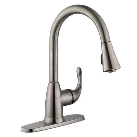 kitchen faucets stainless steel glacier bay market single handle pull sprayer kitchen