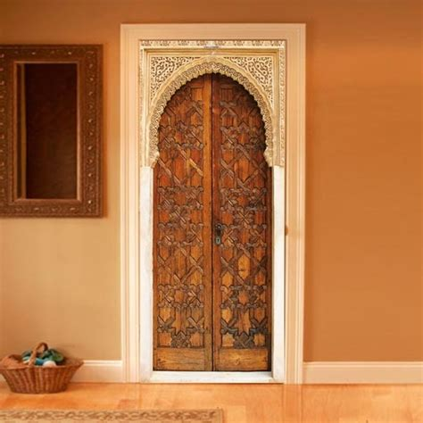 deco trompe l oeil mural style your door trompe l oeil alhambra by couture deco
