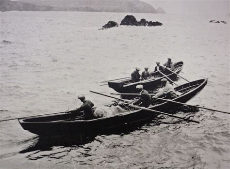 Curragh Boat by 30 Foot Leather And Wood Currach Finally Being Tested On