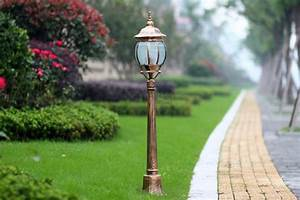 Dimmable Video Light Europe Retro Garden Pole Lamp Pathway Post Light Outdoor