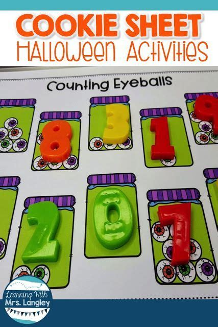 halloween cookie sheet activities  images