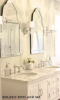 vanity mirrors for bathroom Golden Boys and Me: Master Bathroom {pedestal tub, white subway tile, carrera}