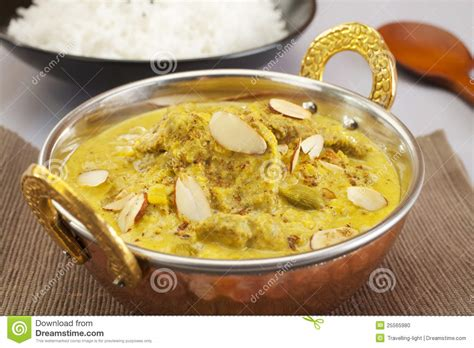 cuisine curry pasanda indian curry food meal cuisine stock photo