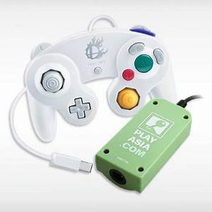 Controller Adapter for Wii U with White GameCube ...