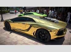 Miami Lamborghini Dealer Unveils GoldWrapped Aventador Video