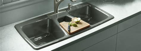 kohler faucets kitchen sink kohler cast iron primary kitchen sinks basin trieste