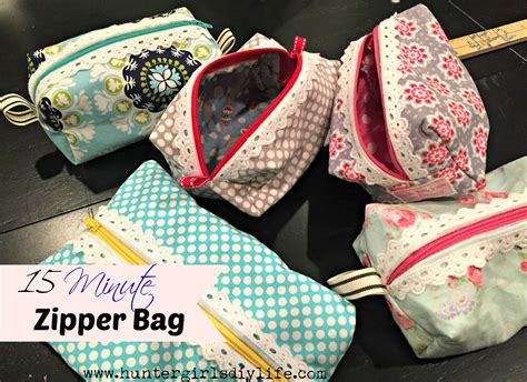 minute zipper bags   easy sewing project