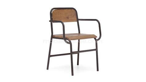 chaise bois et metal chaise à accoudoirs en bois et métal brighton mobilier