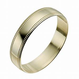 9ct yellow gold 4mm milgrain edge ring h samuel the With milgrain edge wedding ring