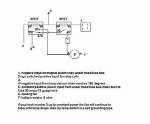 30 Amp Relay Wiring Diagram Electric Fan