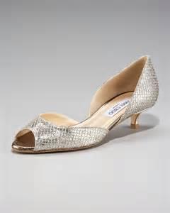 neiman wedding shoes jimmy choo lyon glittered kitten heel d orsay