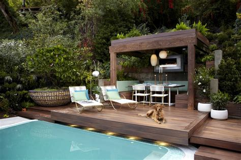 durie design outdoor room for a private mid century residence