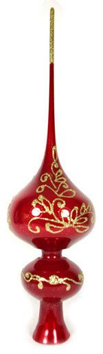 quot lyrics quot red glass christmas tree topper traditional