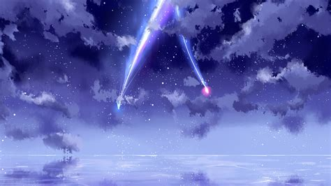 wallpaper   beautiful sky meteor anime