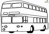 Bus Coloring Printable Double Decker sketch template