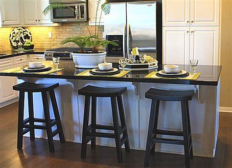 setting   kitchen island  seating