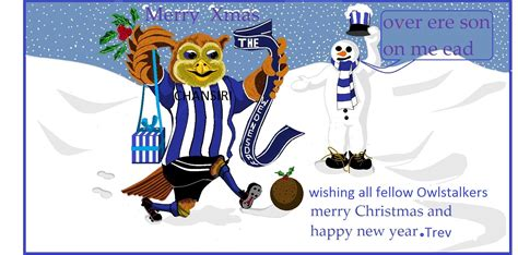 post a wednesday christmas picture sheffield wednesday